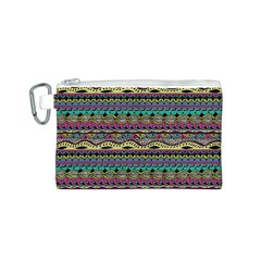 Aztec Pattern Cool Colors Canvas Cosmetic Bag (s) by BangZart