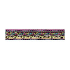 Aztec Pattern Cool Colors Flano Scarf (mini)