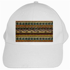 Aztec Pattern Ethnic White Cap by BangZart