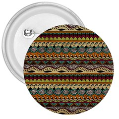 Aztec Pattern Ethnic 3  Buttons