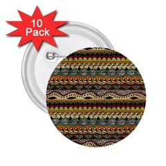 Aztec Pattern Ethnic 2 25  Buttons (10 Pack)