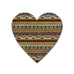 Aztec Pattern Ethnic Heart Magnet by BangZart
