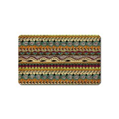 Aztec Pattern Ethnic Magnet (name Card)