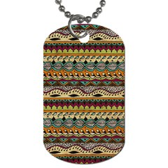 Aztec Pattern Ethnic Dog Tag (two Sides) by BangZart