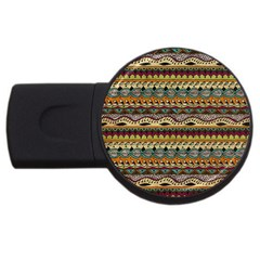Aztec Pattern Ethnic Usb Flash Drive Round (2 Gb)
