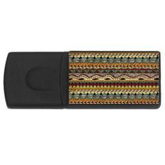 Aztec Pattern Ethnic Rectangular Usb Flash Drive by BangZart