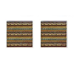 Aztec Pattern Ethnic Cufflinks (square)