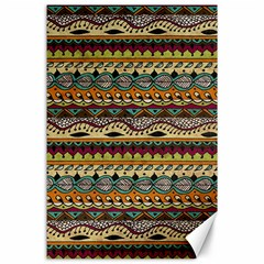 Aztec Pattern Ethnic Canvas 24  X 36  by BangZart