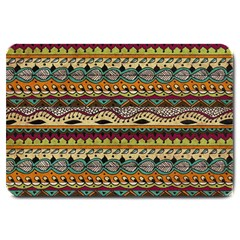 Aztec Pattern Ethnic Large Doormat  by BangZart