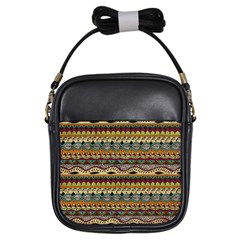 Aztec Pattern Ethnic Girls Sling Bags