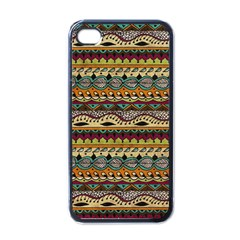 Aztec Pattern Ethnic Apple Iphone 4 Case (black) by BangZart