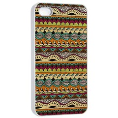 Aztec Pattern Ethnic Apple Iphone 4/4s Seamless Case (white) by BangZart