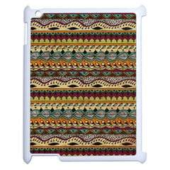 Aztec Pattern Ethnic Apple Ipad 2 Case (white) by BangZart