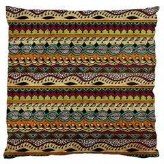Aztec Pattern Ethnic Large Cushion Case (two Sides) by BangZart