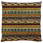 Aztec Pattern Ethnic Large Cushion Case (Two Sides) Front