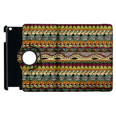 Aztec Pattern Ethnic Apple Ipad 2 Flip 360 Case by BangZart