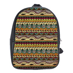 Aztec Pattern Ethnic School Bags (xl)  by BangZart
