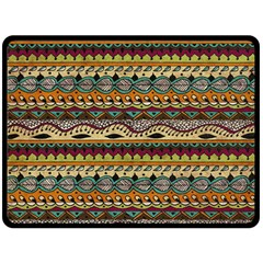Aztec Pattern Ethnic Double Sided Fleece Blanket (large)  by BangZart