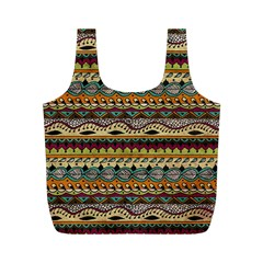Aztec Pattern Ethnic Full Print Recycle Bags (m)