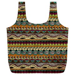 Aztec Pattern Ethnic Full Print Recycle Bags (l)