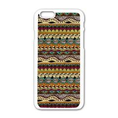 Aztec Pattern Ethnic Apple Iphone 6/6s White Enamel Case by BangZart