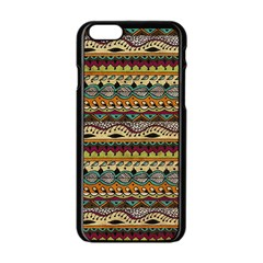 Aztec Pattern Ethnic Apple Iphone 6/6s Black Enamel Case by BangZart