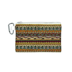 Aztec Pattern Ethnic Canvas Cosmetic Bag (s) by BangZart
