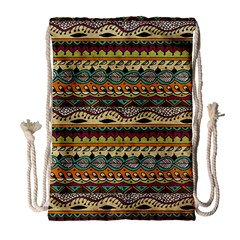 Aztec Pattern Ethnic Drawstring Bag (large) by BangZart
