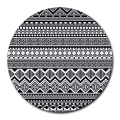 Aztec Pattern Design Round Mousepads by BangZart