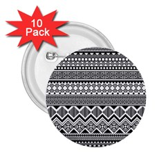 Aztec Pattern Design 2 25  Buttons (10 Pack)