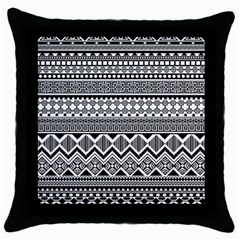 Aztec Pattern Design Throw Pillow Case (black)