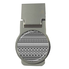 Aztec Pattern Design Money Clips (round)
