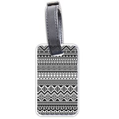 Aztec Pattern Design Luggage Tags (one Side)