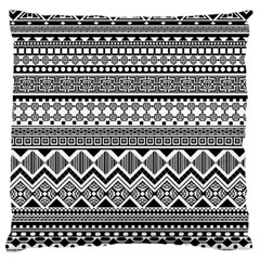 Aztec Pattern Design Large Cushion Case (two Sides) by BangZart