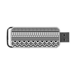 Aztec Pattern Design Portable Usb Flash (two Sides) by BangZart