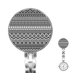 Aztec Pattern Design Stainless Steel Nurses Watch by BangZart