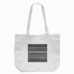 Aztec Pattern Design Tote Bag (white)