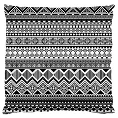 Aztec Pattern Design Large Flano Cushion Case (one Side)