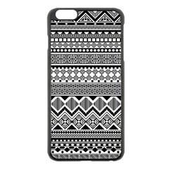 Aztec Pattern Design Apple Iphone 6 Plus/6s Plus Black Enamel Case