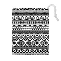 Aztec Pattern Design Drawstring Pouches (extra Large)