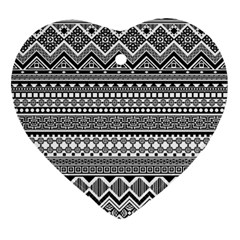 Aztec Pattern Design(1) Ornament (heart) by BangZart