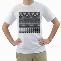 Aztec Pattern Design(1) Men s T Shirt (white) (two Sided)