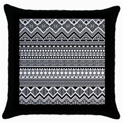 Aztec Pattern Design(1) Throw Pillow Case (black) by BangZart
