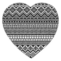 Aztec Pattern Design(1) Jigsaw Puzzle (heart) by BangZart