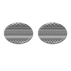 Aztec Pattern Design(1) Cufflinks (oval) by BangZart