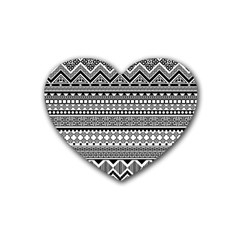 Aztec Pattern Design(1) Heart Coaster (4 Pack)  by BangZart