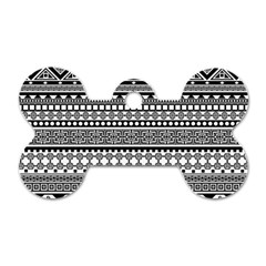 Aztec Pattern Design(1) Dog Tag Bone (two Sides) by BangZart