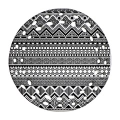 Aztec Pattern Design(1) Round Filigree Ornament (two Sides) by BangZart