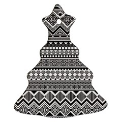 Aztec Pattern Design(1) Christmas Tree Ornament (two Sides)