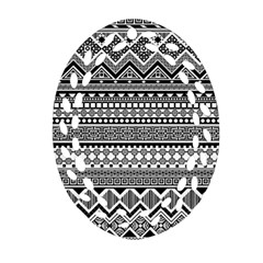 Aztec Pattern Design(1) Ornament (oval Filigree) by BangZart
